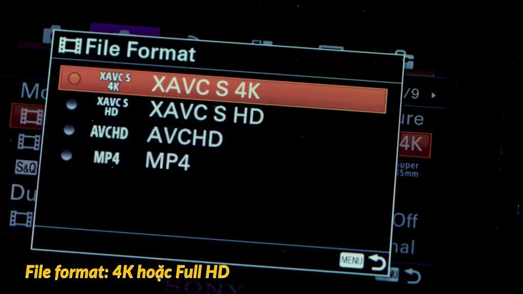 Hướng dẫn setting Sony A6500 để quay video 355