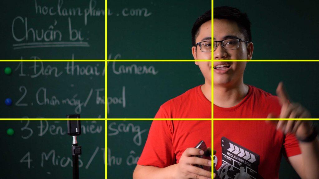 Áp dụng tỉ lệ 1/3 đối với cảnh quay tập trung vào chủ thể.