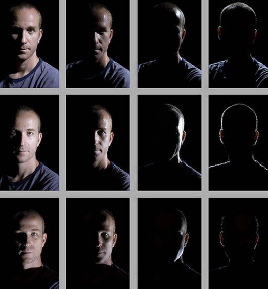 Hướng ánh sáng khác nhau tạo nên hiệu quả hình ảnh khác nhau