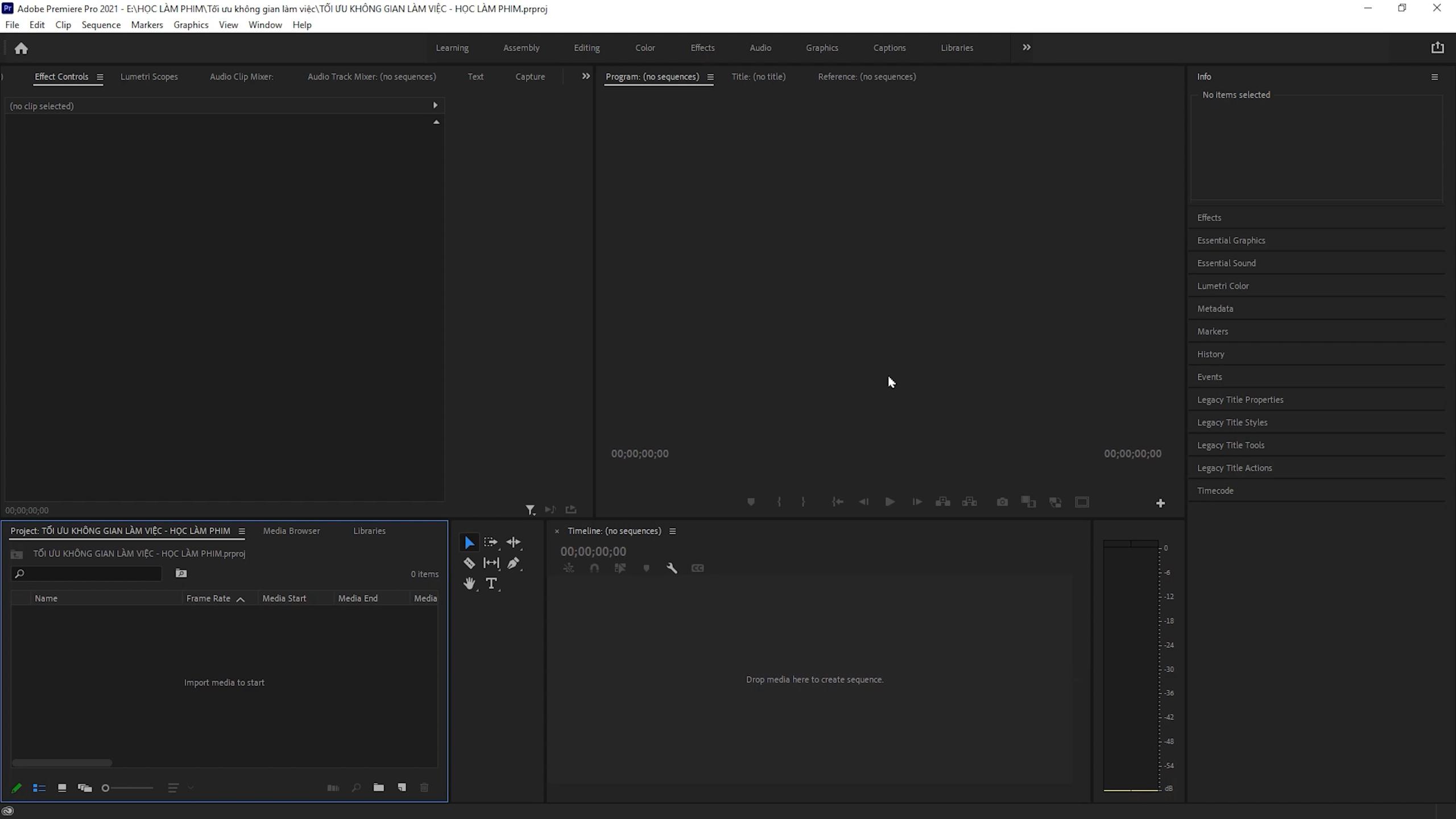 Cách sắp xếp Workspace Premiere Pro cơ bản 31