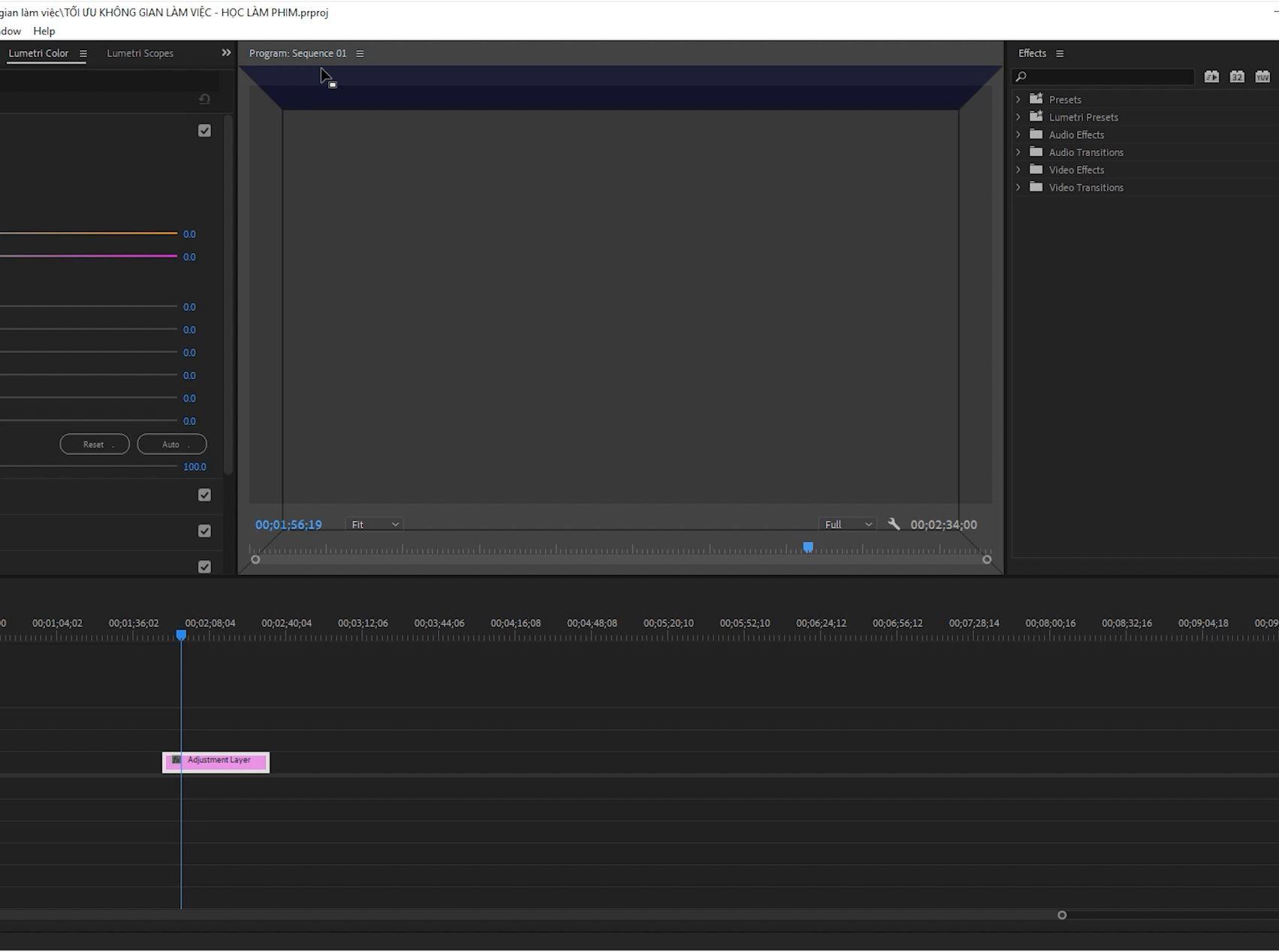 Cách sắp xếp Workspace Premiere Pro cơ bản 35